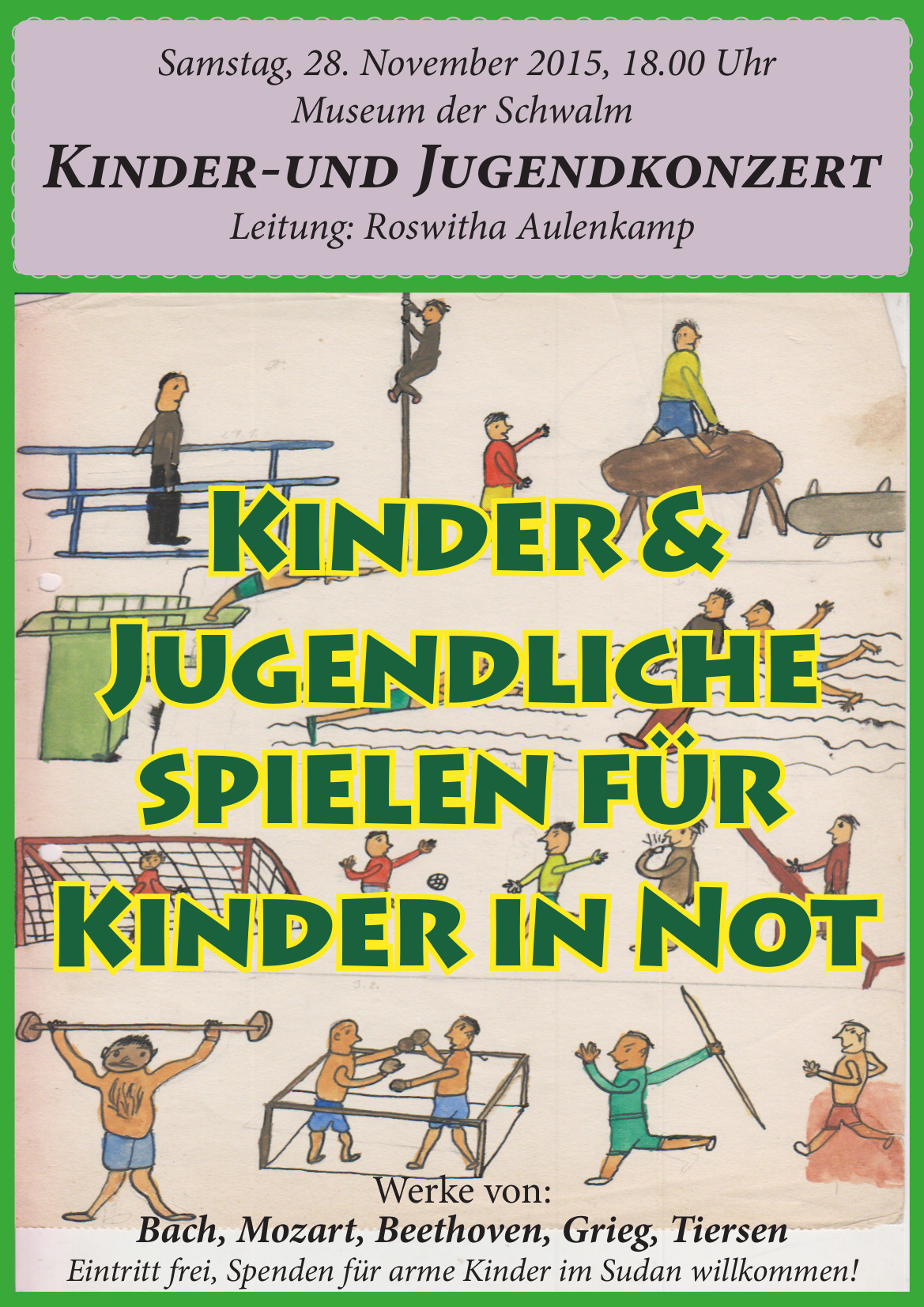 2015-11-29 PlakatA3 Aulenkamp Kinder spielen für Kinder in Not